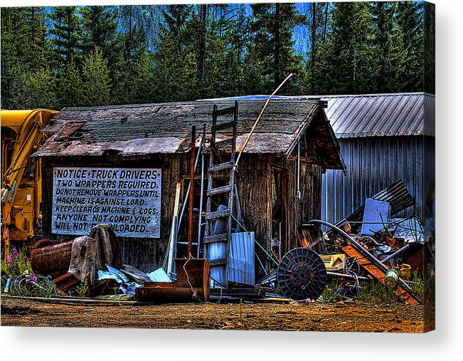 Mill Acrylic Print featuring the photograph Priest Lake Lumber Mill by David Patterson