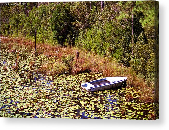 Boat Acrylic Print featuring the photograph Private Spot by Nicole I Hamilton