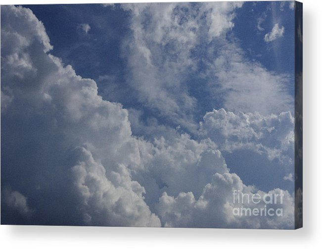 Background Acrylic Print featuring the photograph Puffy Clouds II by Debra Fedchin