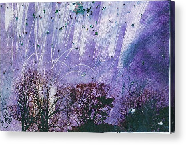 Purple Acrylic Print featuring the mixed media Purple Is The Color Of My True Love's Air by Anne-Elizabeth Whiteway