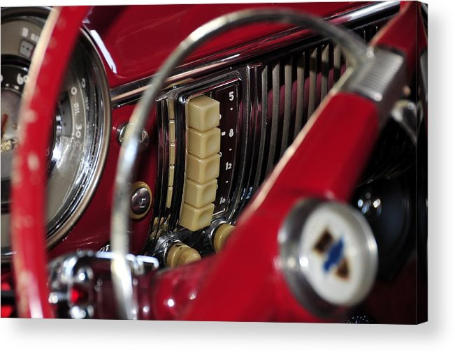 Antic Car Acrylic Print featuring the photograph Push Buttons by David Lee Thompson