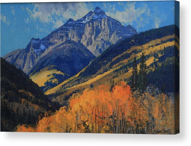 Landscape Acrylic Print featuring the painting Pyramid Peak by Lanny Grant
