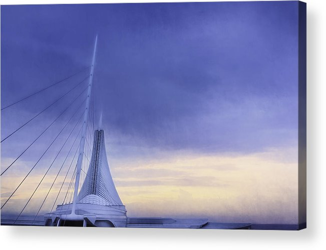 Milwaukee Art Museum Acrylic Print featuring the photograph Quadracci Pavilion Sunrise by Scott Norris