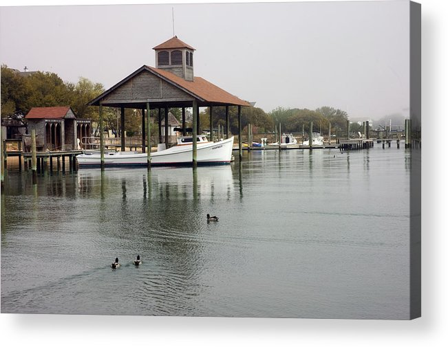 Boat Acrylic Print featuring the photograph Quiet Cove by Cathy Dixson
