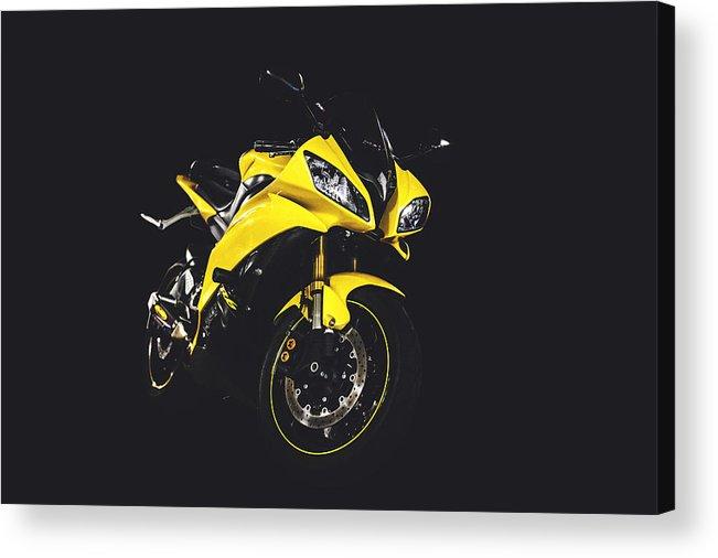 Yamaha Acrylic Print featuring the photograph R6 by Chris Thodd