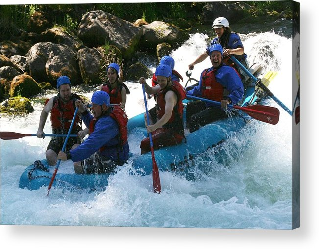 Action Acrylic Print featuring the photograph Rafting Rapture by Garry Kaylor