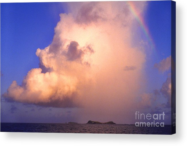 Culebra Acrylic Print featuring the photograph Rain Cloud And Rainbow by Thomas R Fletcher