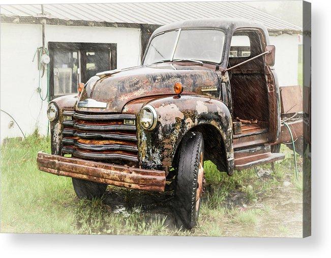 Transportation Acrylic Print featuring the photograph Rain On Rust 1 by Jim Love