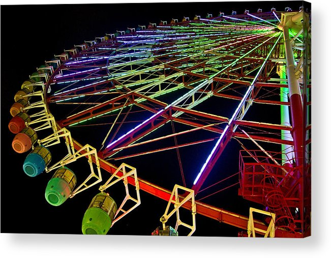 2010 Acrylic Print featuring the photograph Rainbow Ride by Dan Wells