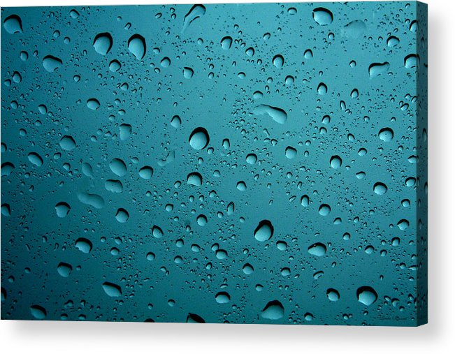 Abstract Acrylic Print featuring the photograph Raindrops by Linda Sannuti