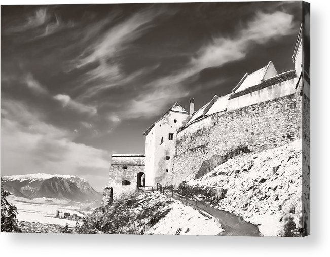 Rasnov Acrylic Print featuring the photograph Rasnov Fortress by Gabriela Insuratelu