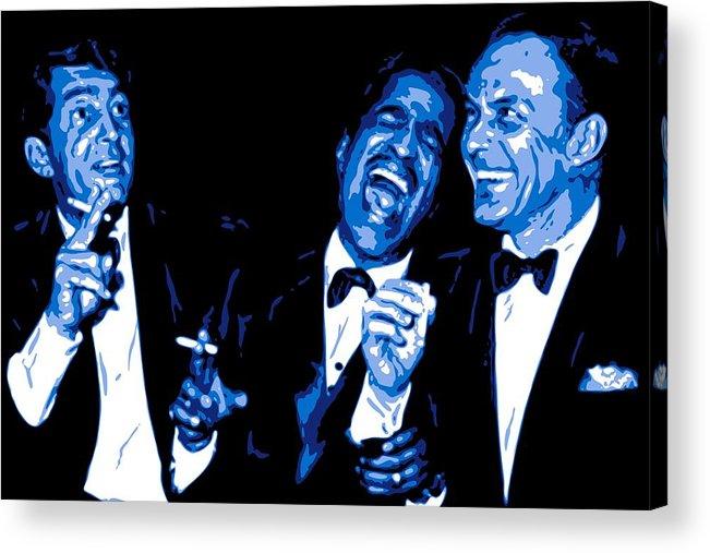 Frank Sinatra Acrylic Print featuring the digital art Rat Pack At Carnegie Hall by DB Artist