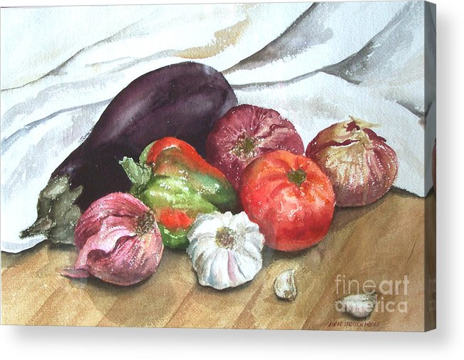 Still Life Acrylic Print featuring the print Ratatouille by Anne Trotter Hodge