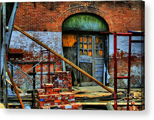 Building Acrylic Print featuring the photograph Rebuild by David Carter