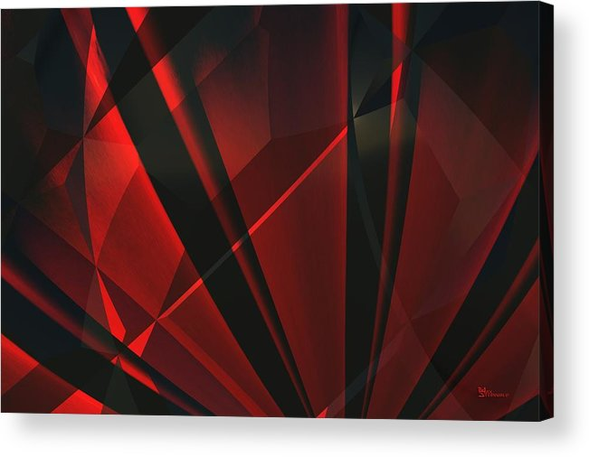 Abstractum Acrylic Print featuring the digital art Red Abstractum by Max Steinwald