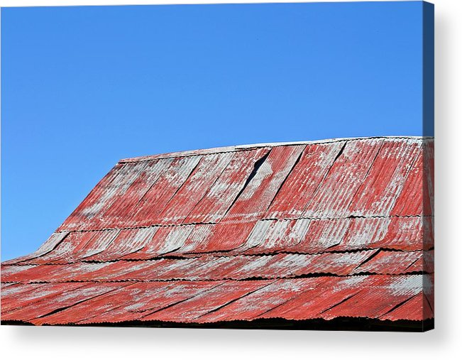 Barn Acrylic Print featuring the photograph Red Barn And Blue Sky- Fine Art by KayeCee Spain