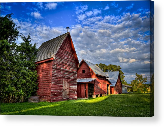 Smithfield Acrylic Print featuring the photograph Red Blue And Green Barns At Windsor Castle by Williams-Cairns Photography LLC