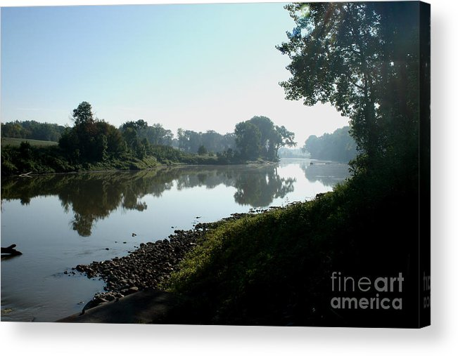 Landscape Acrylic Print featuring the photograph Red River Of The North by Steve Augustin