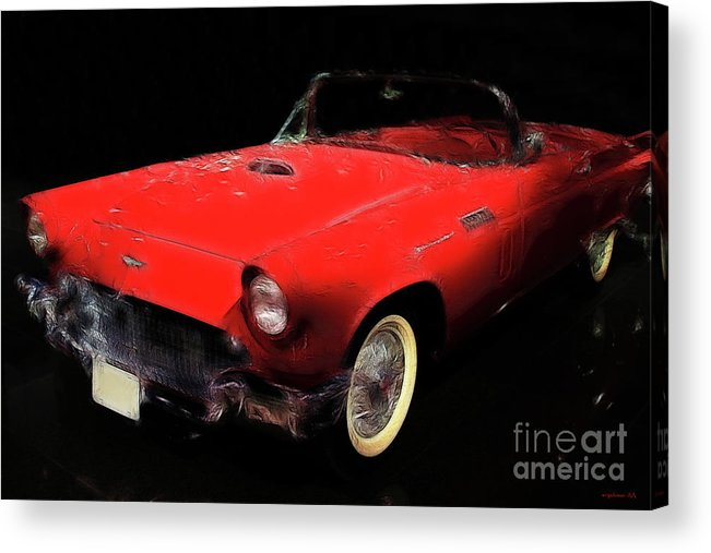 Ford Thunderbird Acrylic Print featuring the photograph Red Thunder by Wingsdomain Art and Photography