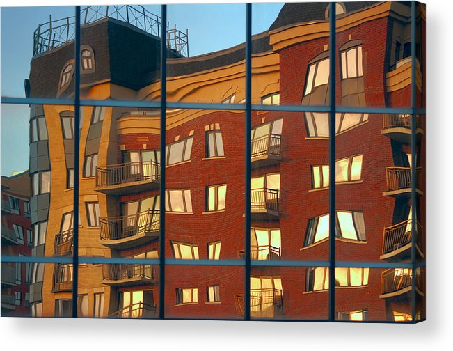 Glass Acrylic Print featuring the photograph Reflection Le Selection by Elisabeth Van Eyken