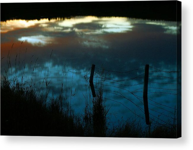 Reflection Of The Sky Acrylic Print featuring the photograph Reflection Of The Sky In A Pond by Mario Brenes Simon