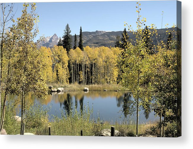Colorado Pond Acrylic Print featuring the photograph Reflection Pond by Jim Norwood