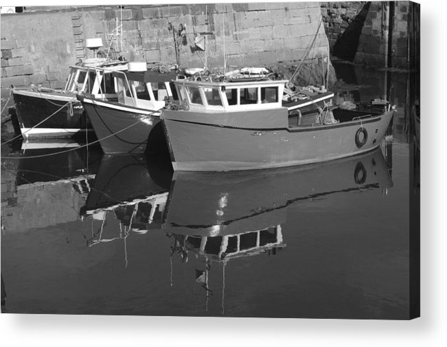 Harbour Acrylic Print featuring the photograph Reflections In The Harbour by Victor Lord Denovan