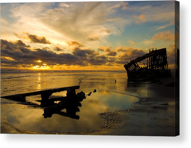 Landscape Acrylic Print featuring the photograph Reflections Of Time by Jennifer Owen