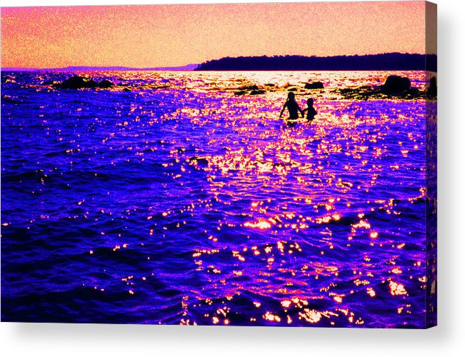 Abstract Acrylic Print featuring the photograph Reluctant Swimmer 2 by Lyle Crump