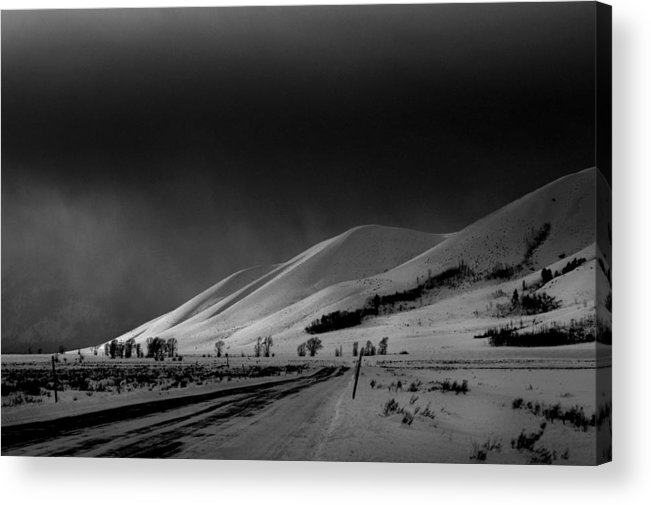 Jacskon Hole Acrylic Print featuring the photograph Returning From Gros Ventre by Alicia Frese Klenk