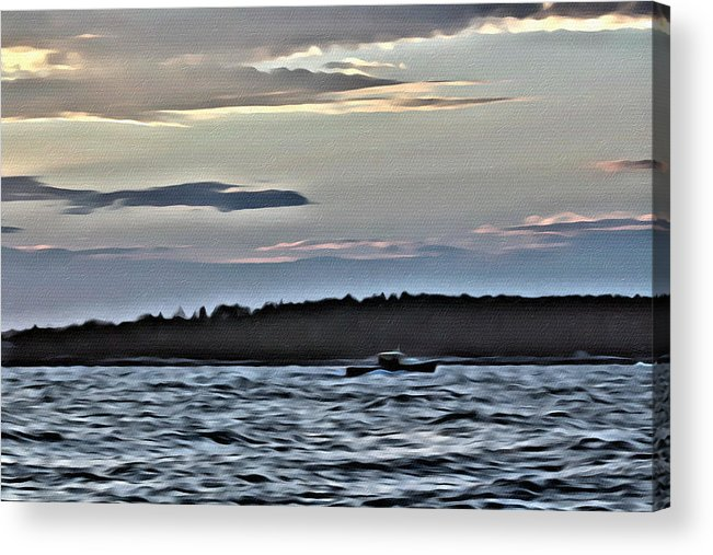 Boat Acrylic Print featuring the photograph Returning by Modern Art