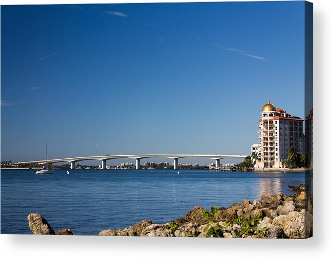 Marina Jacks Acrylic Print featuring the photograph Ringling Bridge, Sarasota, Fl by Michael Tesar