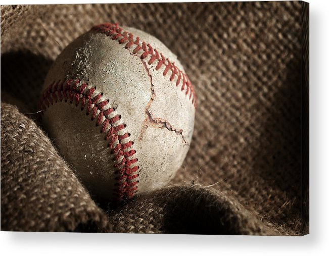 Baseball Acrylic Print featuring the photograph Ripped One by Tom Mc Nemar