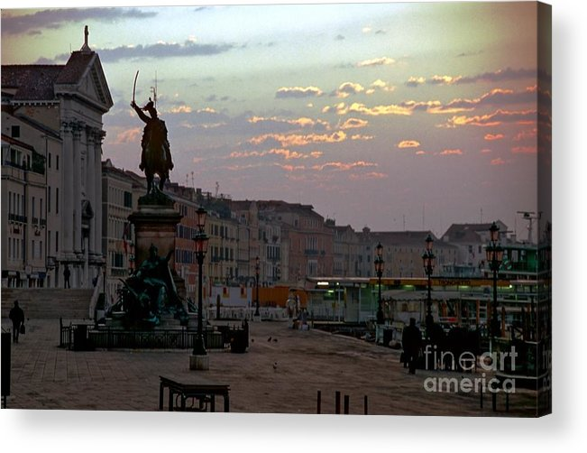 Venice Acrylic Print featuring the photograph Riva Schiavoni In Venice In The Morning by Michael Henderson