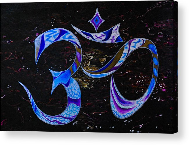River Acrylic Print featuring the drawing River Of Sound by Matthew Fredricey