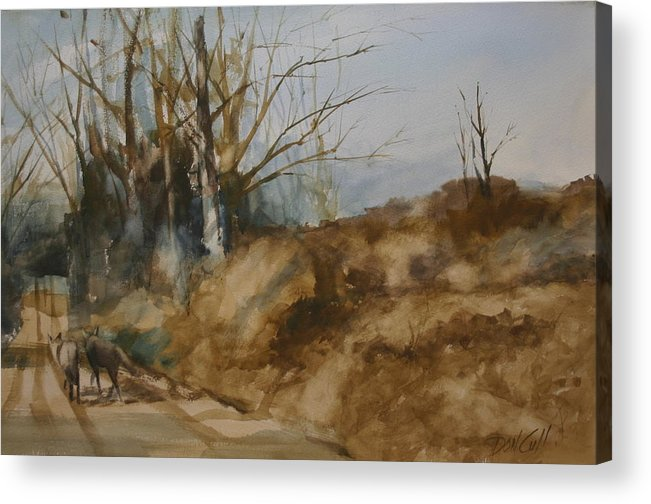 Watercolors Acrylic Print featuring the painting Road Warriors by Don Cull