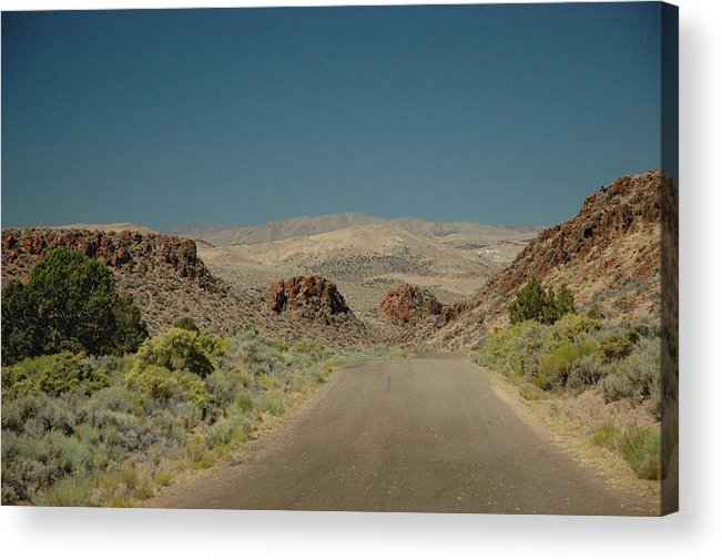 Scenic Acrylic Print featuring the photograph Roadway To Peace by Lori Mellen-Pagliaro