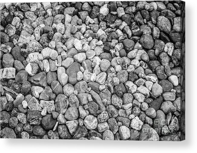 Rocks Acrylic Print featuring the photograph Rocks From Beaches In Black And White by Deborah Brown