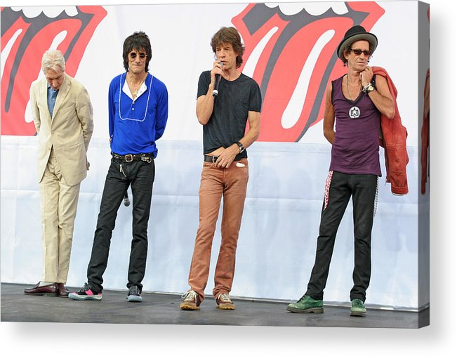 Rolling Stones Acrylic Print featuring the photograph Rolling Stones In Nyc by Artisan Array