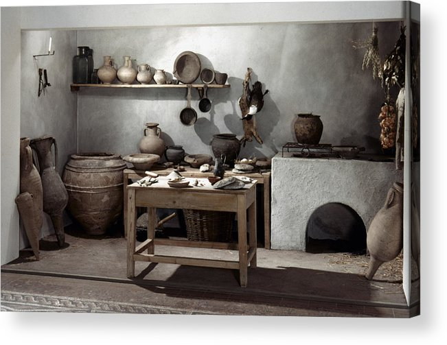 100 Acrylic Print featuring the photograph Roman Kitchen, 100 A.d by Granger