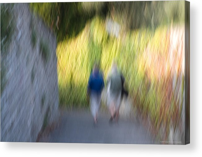 Italy Acrylic Print featuring the photograph Romantic Walking by Luigi Barbano BARBANO LLC