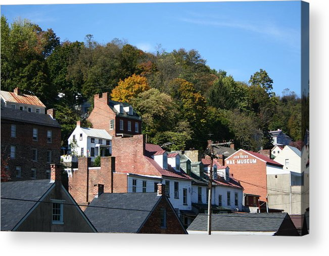 Roofs Acrylic Print featuring the photograph Rooftops Of Harpers Ferry by Rebecca Smith