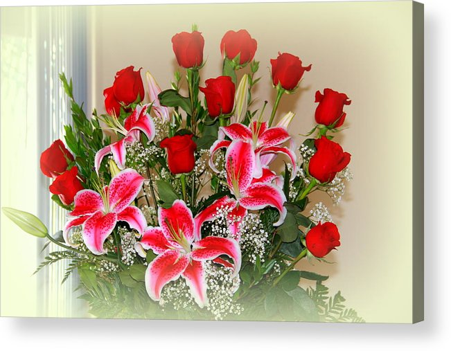 Rose Acrylic Print featuring the photograph Rose's by Athala Carole Bruckner