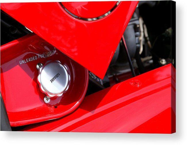 Red Acrylic Print featuring the photograph Rosso by Steve Parrott