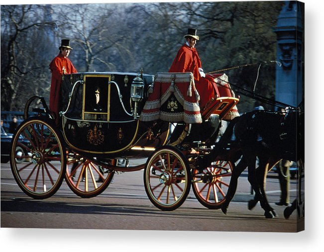 Coach Acrylic Print featuring the photograph Royal Carriage In London by Carl Purcell