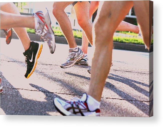 Marathon Acrylic Print featuring the photograph Run by Susie DeZarn