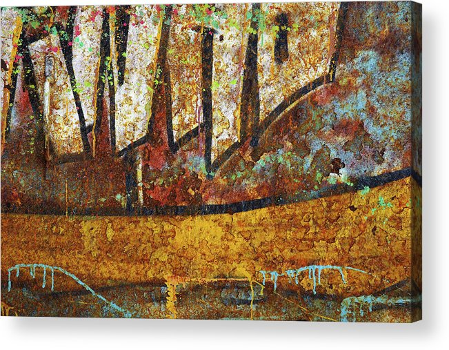 Abandoned Acrylic Print featuring the photograph Rust Colors by Carlos Caetano