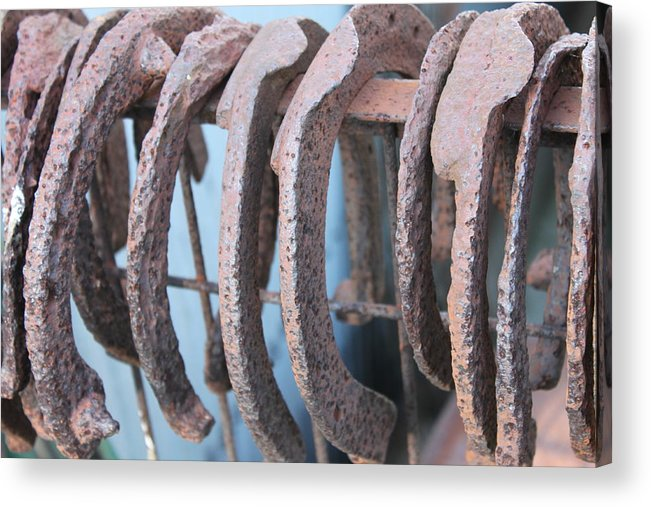 Horseshoe Acrylic Print featuring the photograph Rusted Shoes by Lauri Novak