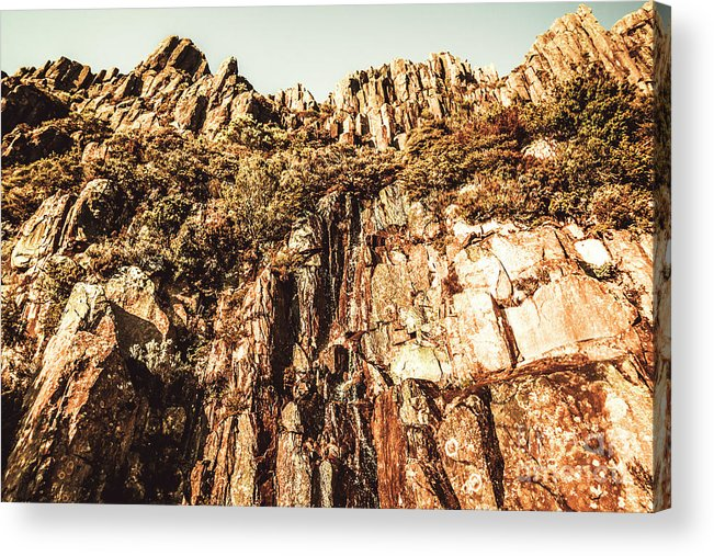Rock Acrylic Print featuring the photograph Rustic Cliff Spring by Jorgo Photography - Wall Art Gallery