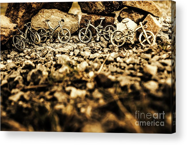 Bike Acrylic Print featuring the photograph Rustic Mountain Bikes by Jorgo Photography - Wall Art Gallery